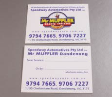Double Side Automotive Lube Service Sticker